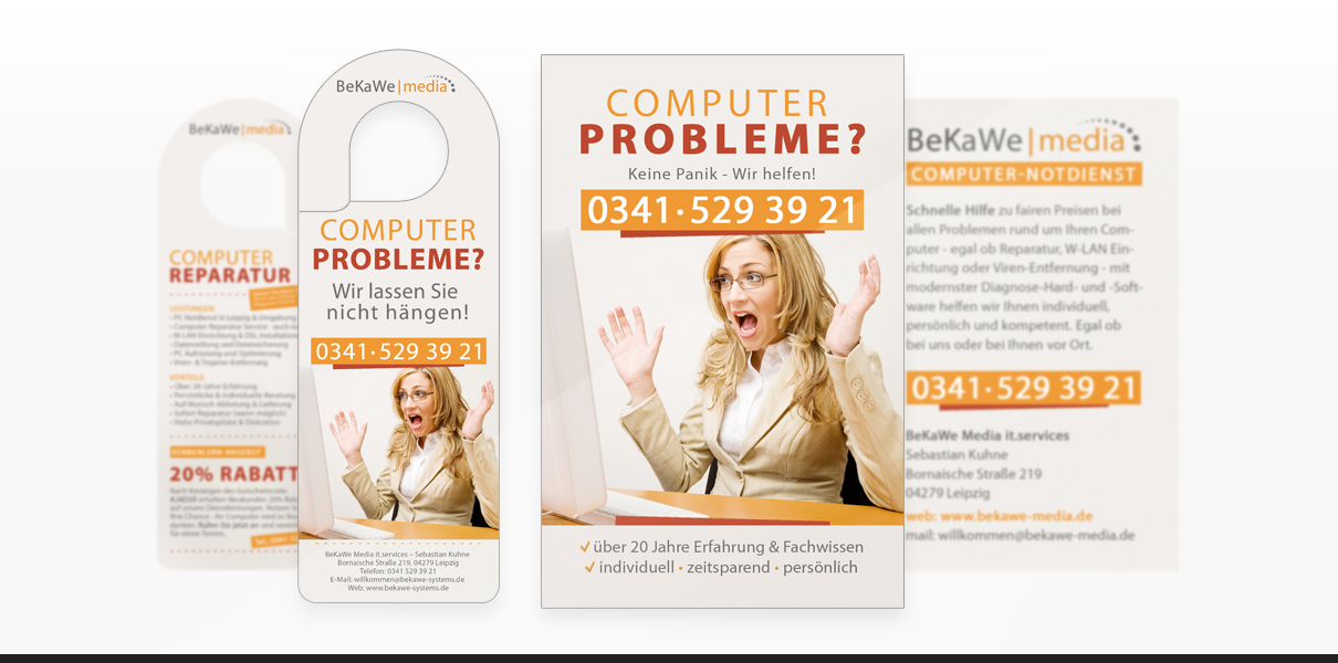 "Referenz ""BeKaWe Media"" Grafikdesign"