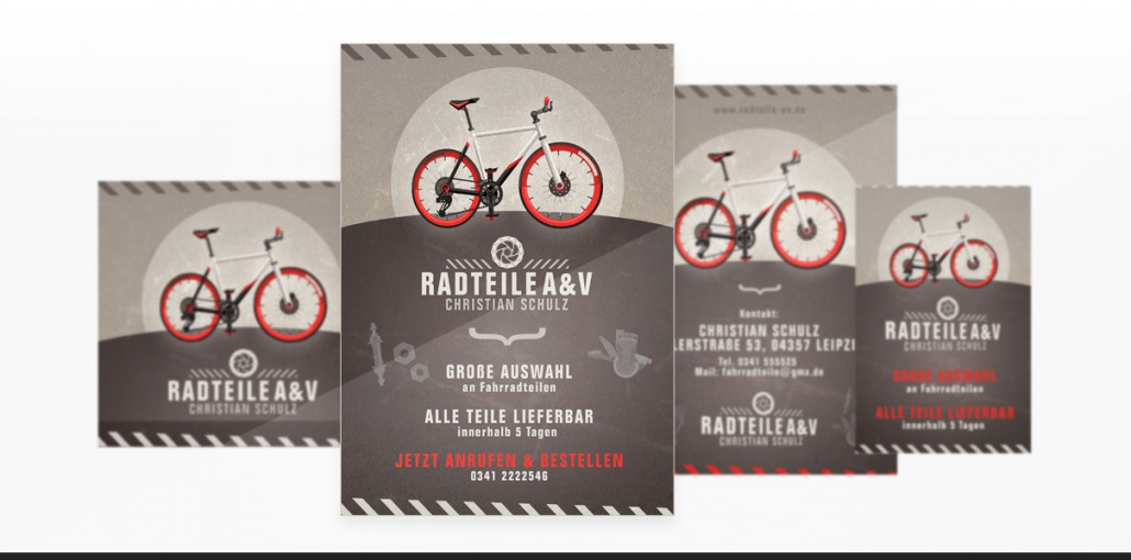 "Referenz ""CS Radteile"" Grafikdesign"