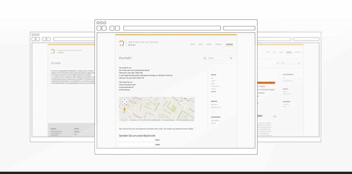 """Referenz """"DME Dresden """" Webdesign"""