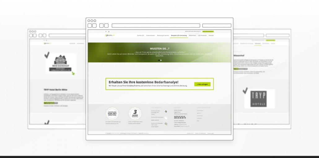 "Referenz ""Gorilla LED GmbH"" Webdesign"