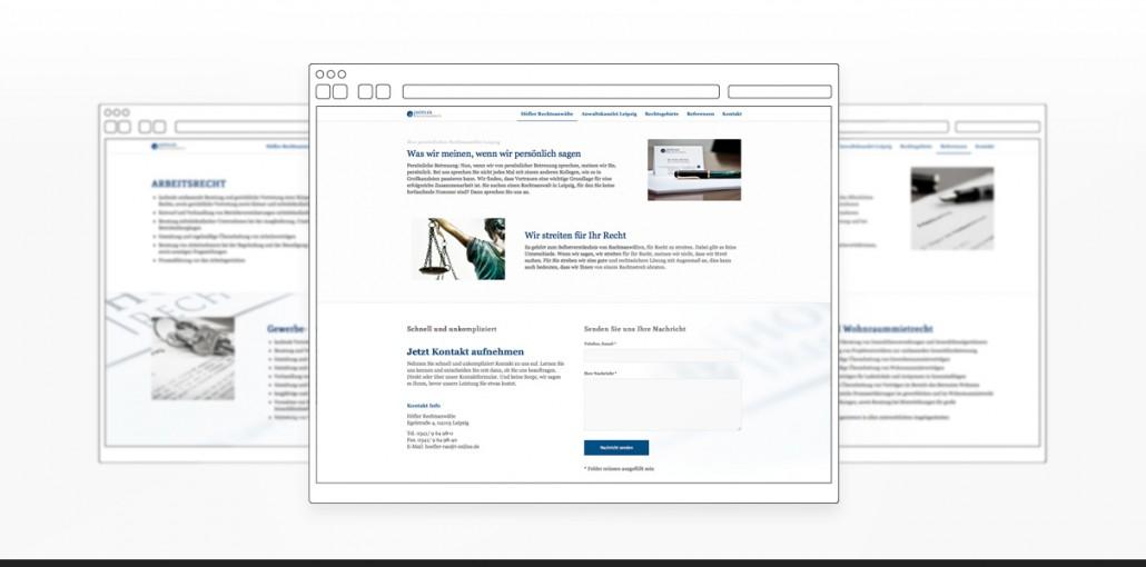 """Referenz """"Höfler Rechtsanwälte"""" Webdesign"""