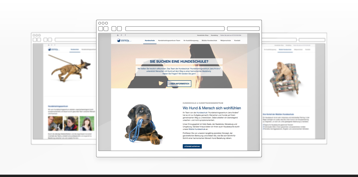 "Referenz ""Hundetrainingszentrum"" Webdesign"