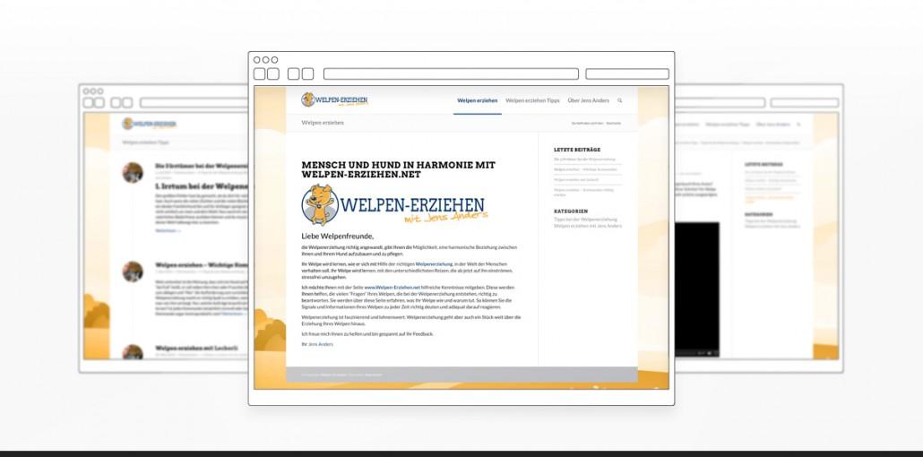 """Referenz """"Welpen-Erziehen.net"""" Webdesign"""