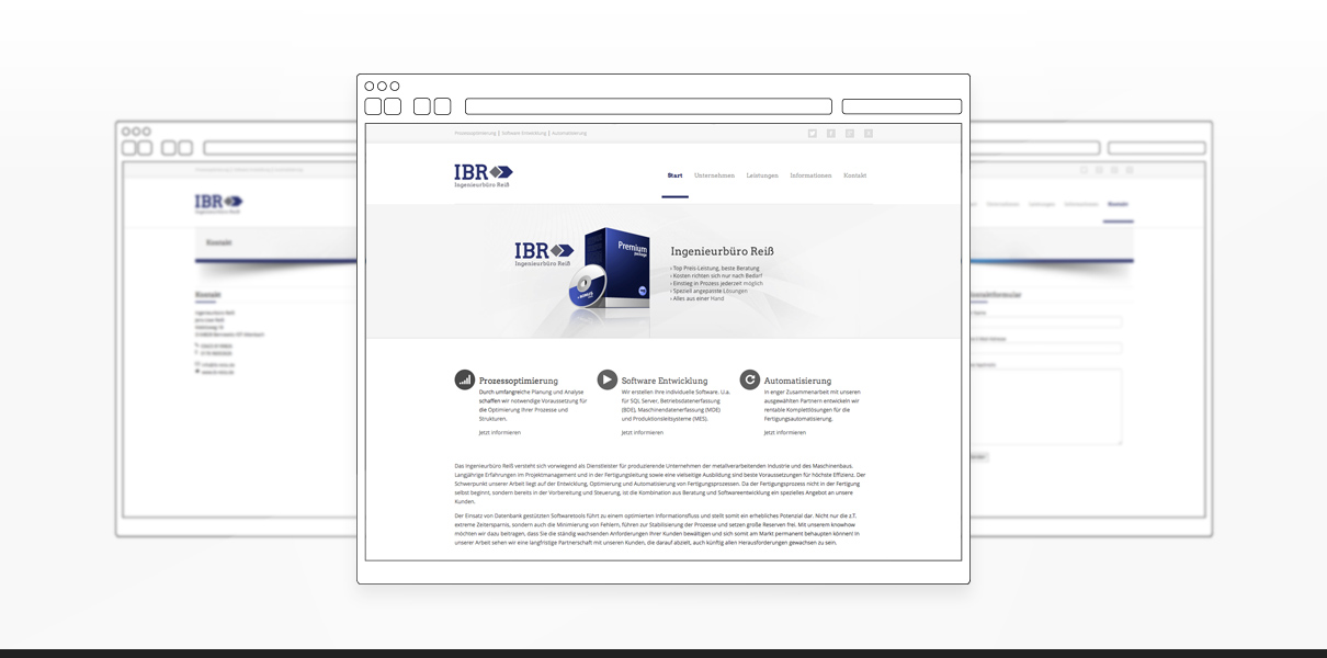 "Referenz ""Ingenieurbüro Reiss"" Webdesign"
