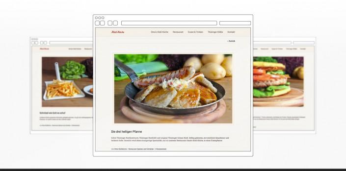 """Referenz """"Kloß Küche"""" Webdesign"""