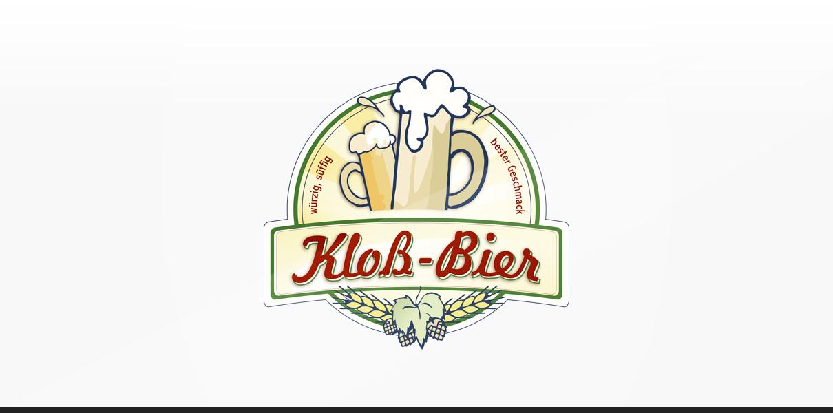"Statusglow Referenz ""Kloß-Bier"" Logodesign"