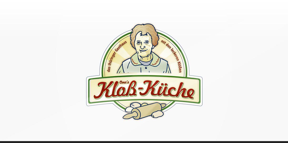 "Referenz ""Kloß Küche"" Logodesign"