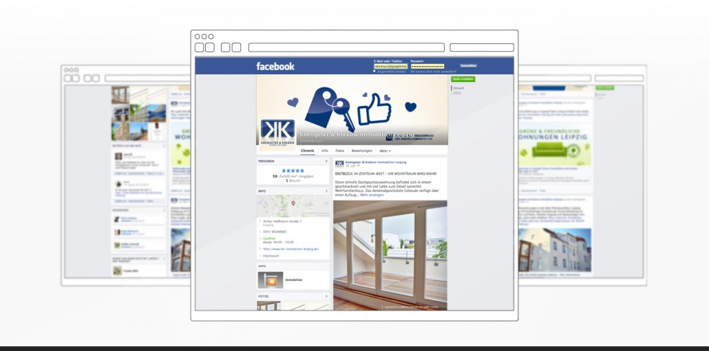 """Referenz """"Koengeter & Krekow Immobilien GmbH"""" Social Media"""