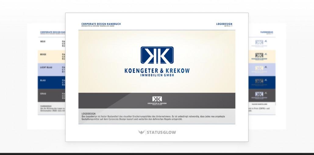 """Referenz """"Koengeter & Krekow Immobilien GmbH"""" Corporate Design"""