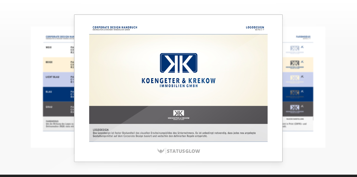 "Referenz ""Koengeter & Krekow Immobilien GmbH"" Corporate Design"