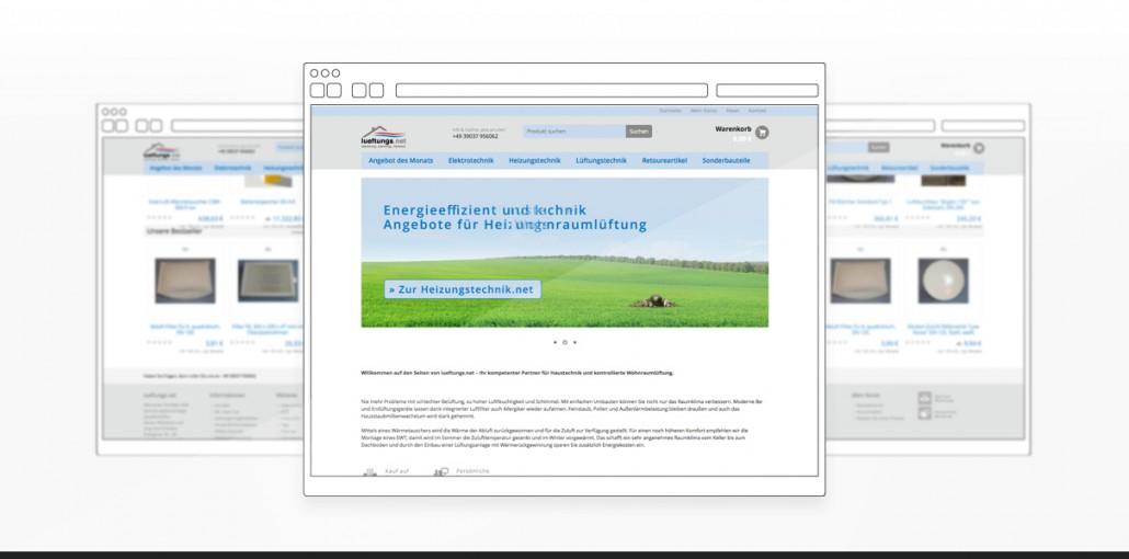"""Referenz """"Lueftungs.net"""" Webdesign"""
