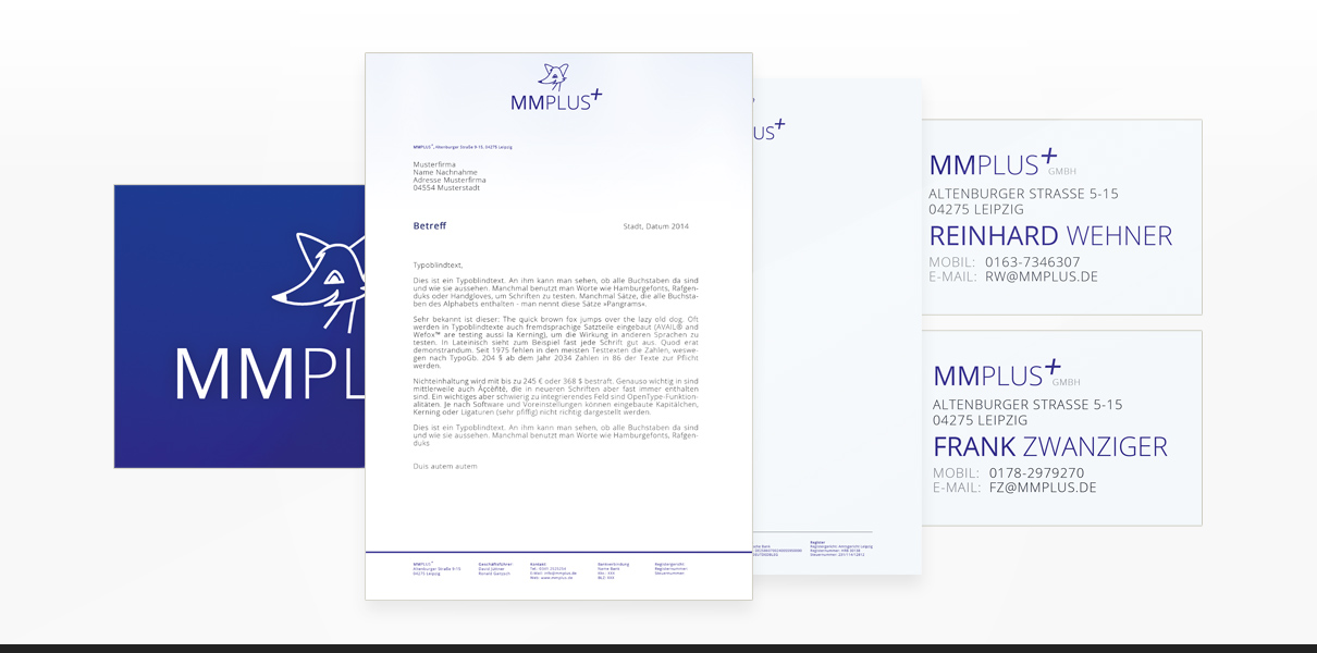 "Referenz ""MMPlus GmbH"" Corporate Design"