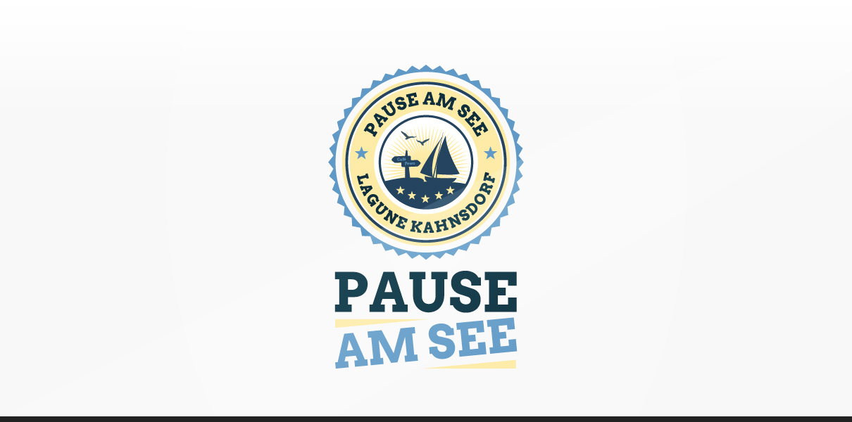 "Statusglow Referenz ""Pause am See"" Logodesign"