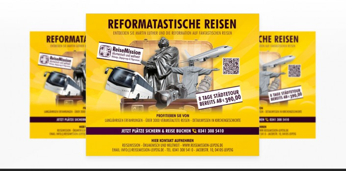 "Grafikdesign Referenz des Kunden ""Reise Mission"""