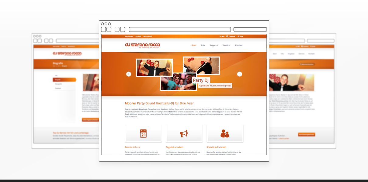 """Referenz """"Stefano Rocca"""" Webdesign"""